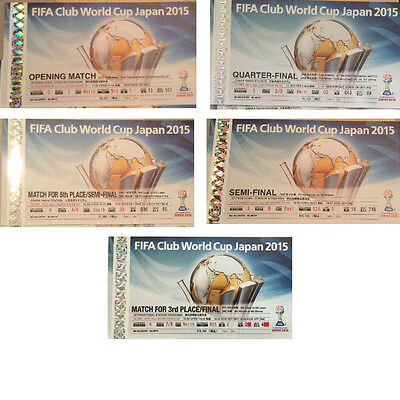 **fifa Club World Cup Japan 2015 Used Collector Tickets Full Set, All 5 Games