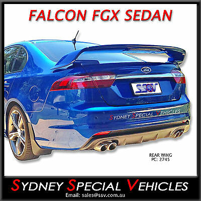 Gt Style Rear Wing For Fgx Falcon Sedan Fg-X, Fg X, New Boot Spoiler