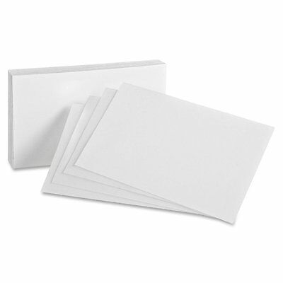 Blank Index Cards, On 80lb Heavyweight Thick White Cover Stock. 100 Cards Per 3