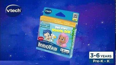 VTech Innotab Bubble Guppies Pet Care School Day game kids ages 3-6 brand new