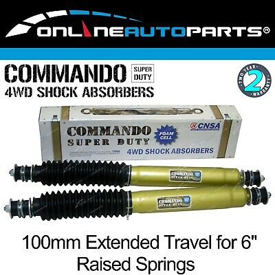 """2 Front Foam Cell Shock Absorbers Extra Travel suit 6"""" Lift Patrol GQ Y60 GU Y61"""