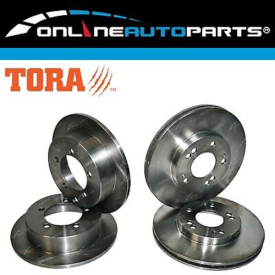 4 Disc Rotors Mitsubishi Magna 1996-2008 TE TF TH TJ TL Front & Rear Brake Set