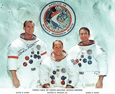 Dave Scott Signed Ninth Manned Apollo 15 Crew Lithograph