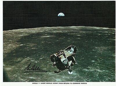 Apollo II Original 1969 Lithograph Signed by Michael Collins.
