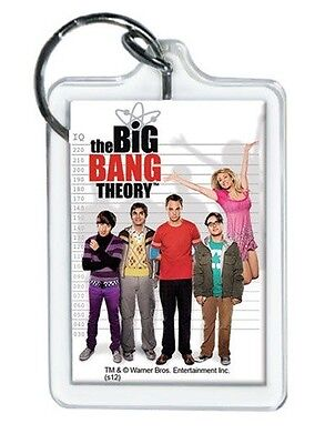 """The Big Bang Theory Cast Photo Lucite Keychain 2 1/4"""" x 1 1/2"""""""