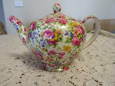1930s ROYAL WINTON SUMMERTIME CHINTZ TEAPOT OUCH!