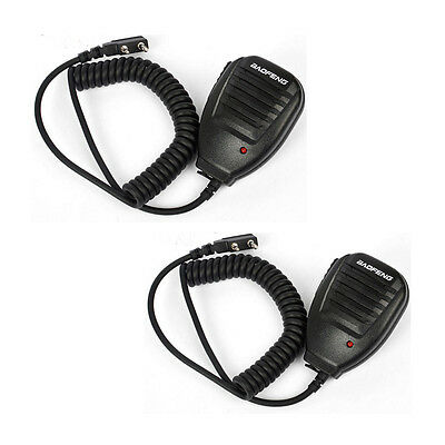 2× Speaker Mic For Baofeng Handheld UV-5R V2+ BF-F8+ WP970 888s  Walkie Talkie