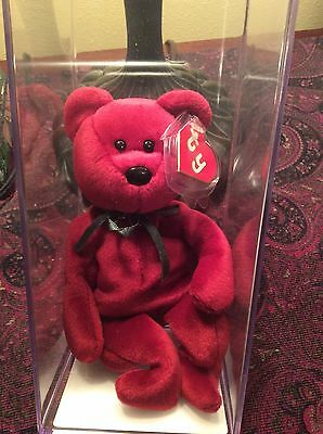 """beanie baby """"Teddy-NF -Cranberry """",(MWMT's-MQ) """"2nd/1st"""", Authenticated!! RARE !"""