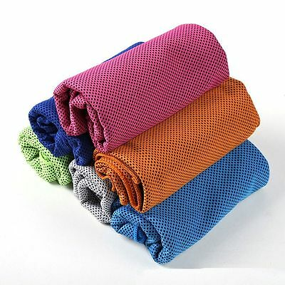 Enduring Running Gym Sports Chilly Pad Ice Cold Instant Cooling Towel