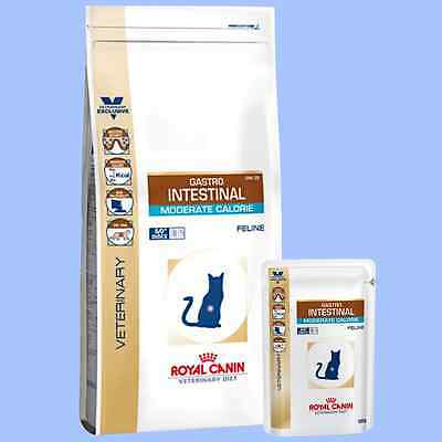 Royal Canin Gastro Intestinal Moderate Calorie GM 35 DRY WET Cat Food 2 / 4 KG