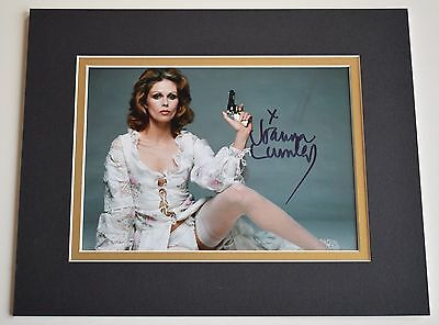 Joanna Lumley Signed Autograph 10x8 photo display Avengers Ab Fab TV AFTAL COA