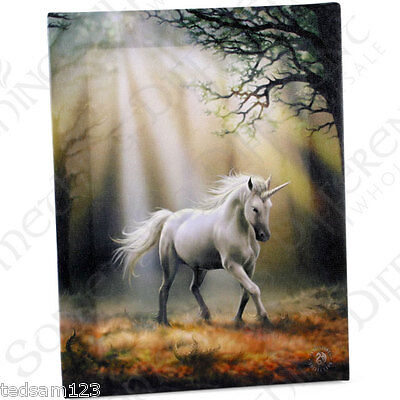 Stunning  ' Glimpse Unicorn Canvas '  -  By Anne Stokes  -   Brand New