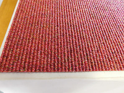 Heavy contract new Red carpet tiles . office floor carpet boxed