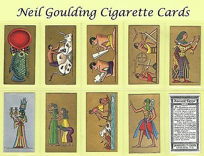 Cavanders - Ancient Egypt 1928 #1 to #25 Cigarette Cards