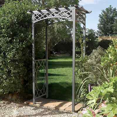 Wrenbury Metal Arch Garden Decoration Arches Wedding Archway Outdoor Decor NEW