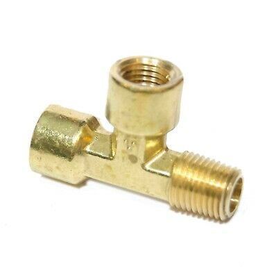 """1/4"""" NPT Male Female Street Tee Forged Fitting, Fuel, Air, Oil, Brass FasParts"""