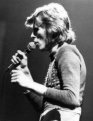 David Bowie Rock Star Black & White Photo Music Print Picture A4