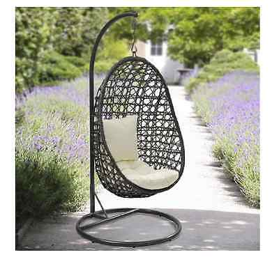 NEW Cocoon Hanging Chair With Cushion Outdoor Garden Swing Chairs Conservatory