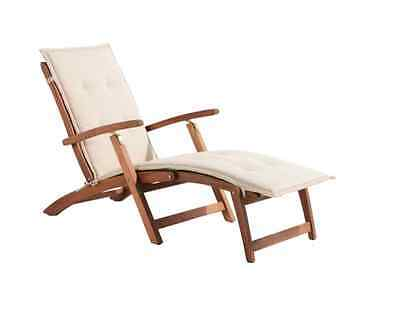 Peru Wooden Deck Chair Garden Chairs Seats Outdoor Furniture Wooden Recliner NEW