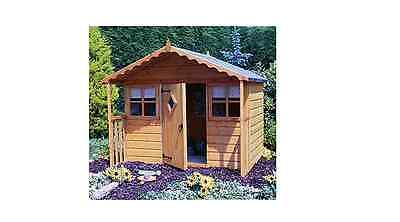 NEW Finewood Cubby Wooden Playhouse 6ft x 6ft Garden Wendy House Play House
