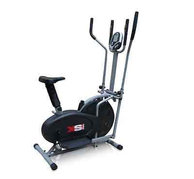 NEW Pro XS Sports 2-in1 Elliptical Cross Trainer Exercise Bike Fitness Cardio