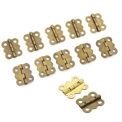10pcs Hinges Alloy Butterfly DIY Woodworking Supplies 50pcs Screws House Boxes