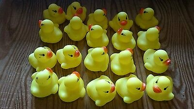 NEW 20 Small Bath Rubber Duck Toys Bath Time Fun Time Floating Water Kids Family