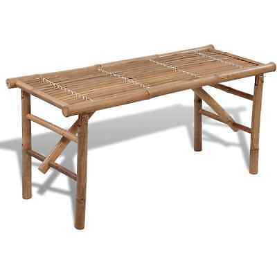 NEW Bamboo Folding Bench Garden Indoor Outdoor Benches Seats Portable Chairs