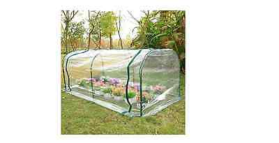 NEW Outsunny Large Transparent PVC Tunnel Greenhouse Steel Frame Gardening Grow