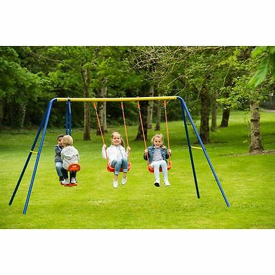 NEW Delta Double Swing See Saw Set Kids Garden Play Swings Seesaw Outdoor Toys