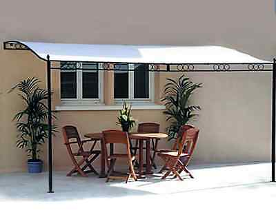NEW Garden Gazebo Cover Shade 3.5M x 2.5M Metal Canopy Awning Pergola Marquee