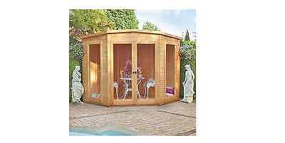 Finewood Barclay Corner Wooden Summerhouse 7x7ft New Garden Wendy House Timber