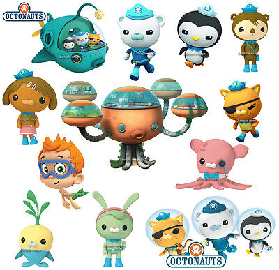 OCTONAUTS wall stickers (S2). PRE-CUT. 12 image selection, 2 sizes & discounts