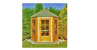 NEW Finewood Gazebo Wooden Summerhouse 6x7ft Garden Houses Sheds Wood Homes