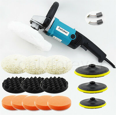 Polisher Car Buffer 180mm Sander Electric Tools kit Variable Speed 1400W 230V