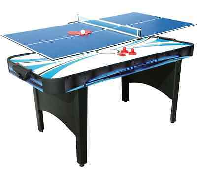NEW Mightymast Typhoon 2 in 1 Air Hockey and Table Tennis Tables Garage Games