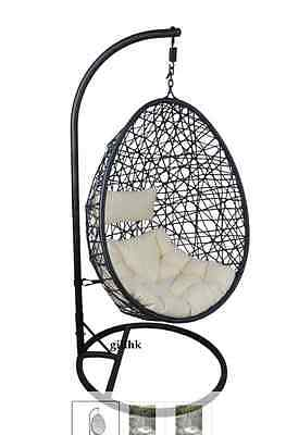 NEW Hanging Egg Garden Swing Chair Cushions Garden Furniture Seats Sofas Chairs