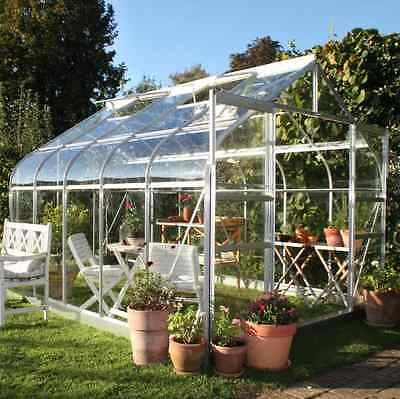 New Gardening Greenhouse 8X10 Toughened Safety Glass Greenhouse Coldframes Plant
