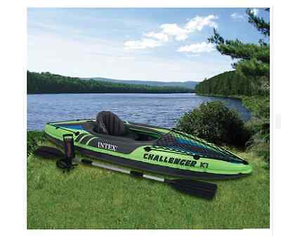 NEW Intex Challenger K1 Kayak Sea River Kayaks Canoes Water Boats Inflatable Fun