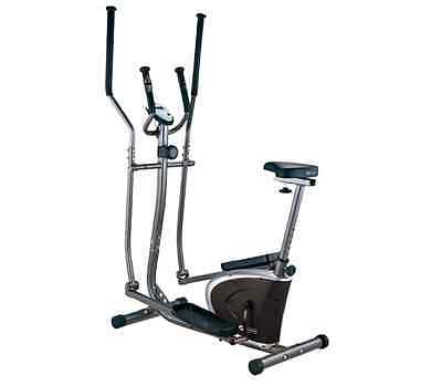 NEW Dynamix 2-in-1 Elliptical Strider Exercise Machine Fitness Gym Cross Trainer