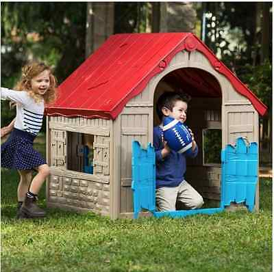 NEW Kids Foldable Garden Playhouse Portable Indoor Outdoor Wendy House Toys Play