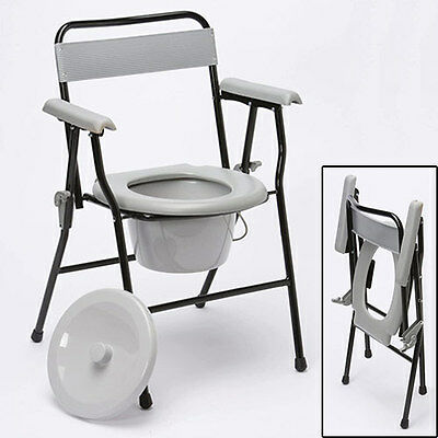 Easy To Store, Folding, Lightweight Sturdy Chair Commode
