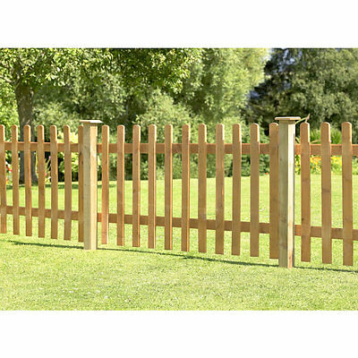 NEW Pale Fence Panel Pack of 3 Garden Fencing Panels Wooden Timber Fence Wall