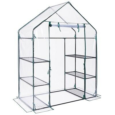 Walk In Green House Garden Deluxe Greenhouse Plant Flower Vegetables Cover New