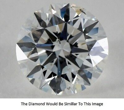 0.36 Ct Carat F Color SI2 Clarity Round Excellent Cut Natural Loose Diamond