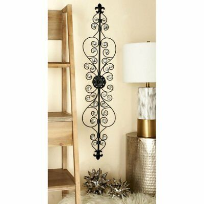 Decorative Black Scrollwork Wrought Iron Wall Grille Art Sculpture Home DecorNEW