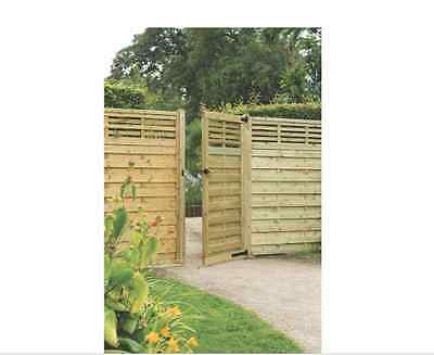 New Kyoto Gate 900 X 1800Mm Natural Timber Outdoor Garden Gates Doors Wooden