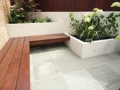 Kandla Grey Indian Sandstone Paving 18mm - 25mm Patio Pack (18.5m2 Pack)