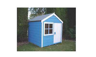 "NEW GARDEN PLAYHOUSE 3' 9 X 5' 6"" Childrens Outdoor Play House Wendy houses"