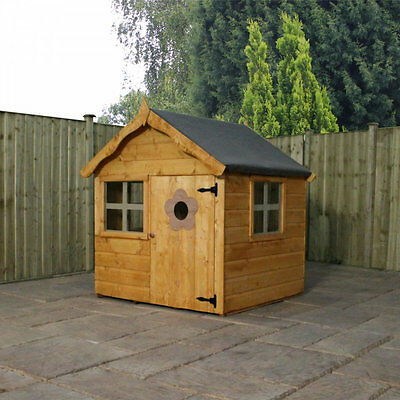 NEW Mercia 4ft x 4ft Snug Playhouse Kids Outdoor Sheds Wendy Houses Wooden
